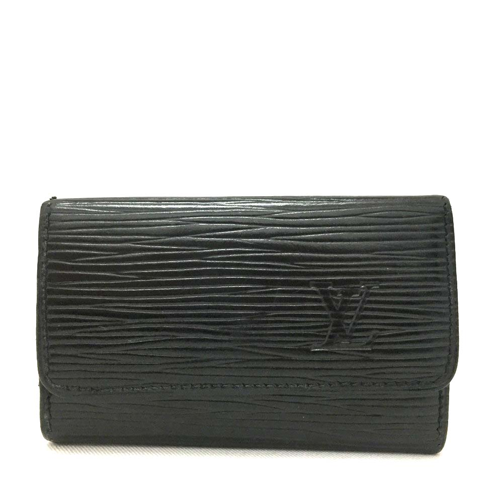 Vine Louis Vuitton Monogram Pochette Cles Wallet Coin Purse P96 a7009de2ba5a0