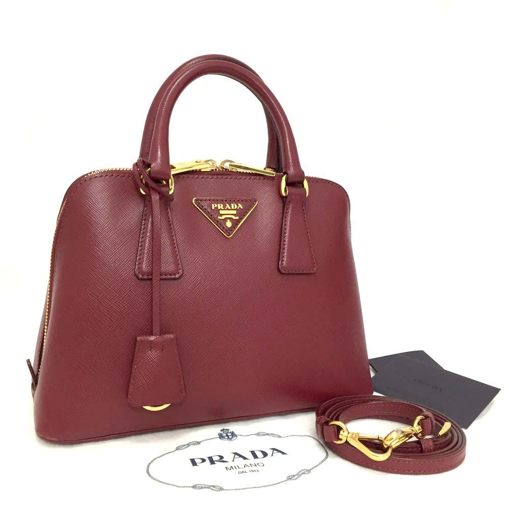 fe5440046475cb ... store prada saffiano lux cerise leather hand bag bl0838 w shoulder  strap b166d fcefc