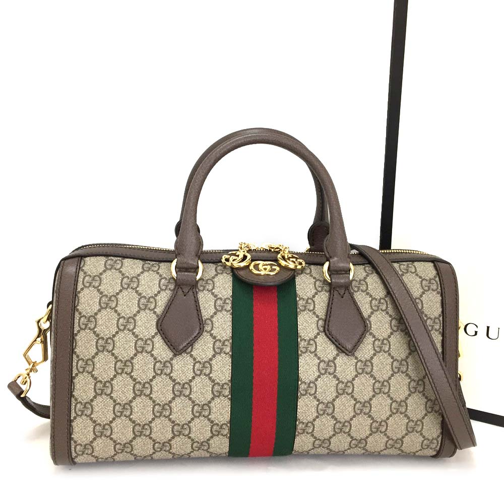 02a28891cfd New GUCCI Ophidia GG Supreme Webbing Medium Top Handle 2way Bag  3508
